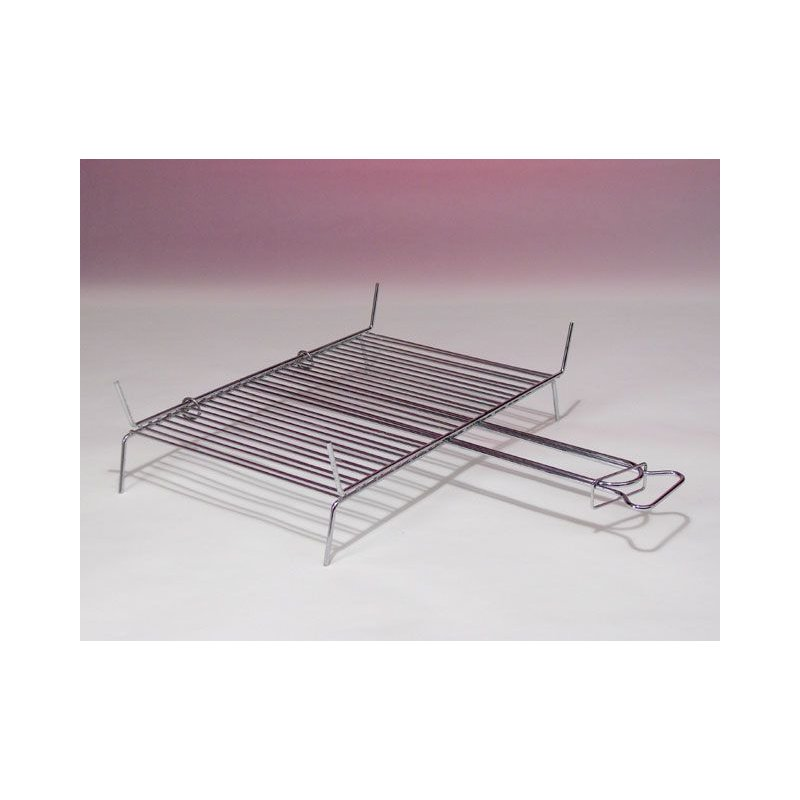 Chromium-plated grill with 9 rods 23x20 cm.