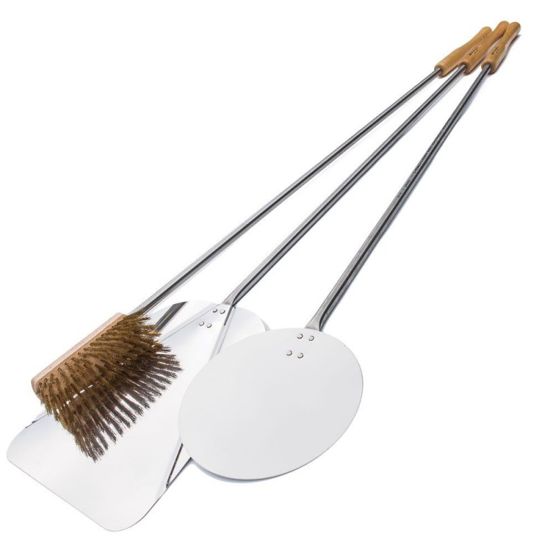 Set of 3 stainless steel pizza's shovels