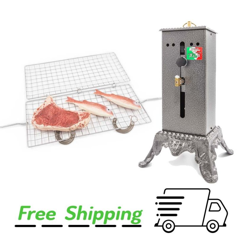Asador giratorio B800 Regulable con Parilla Giratoria media (cm. 70)