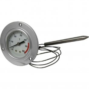 Stainless steel 600 °C thermometer for oven