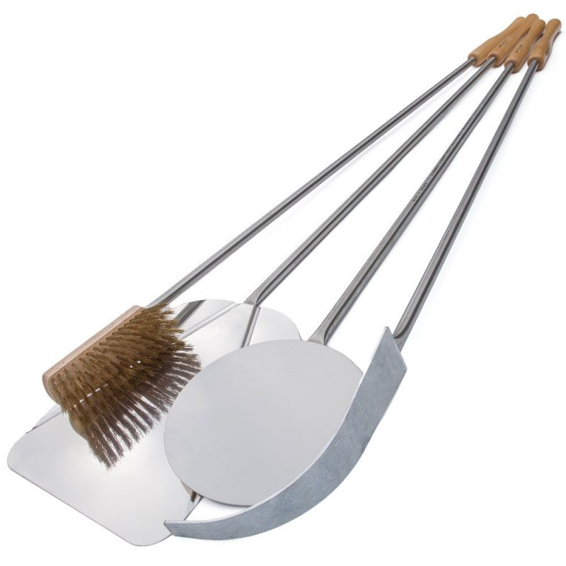 Set of 3 stainless steel pizza's shovels (for pizzas of 30 cm.)