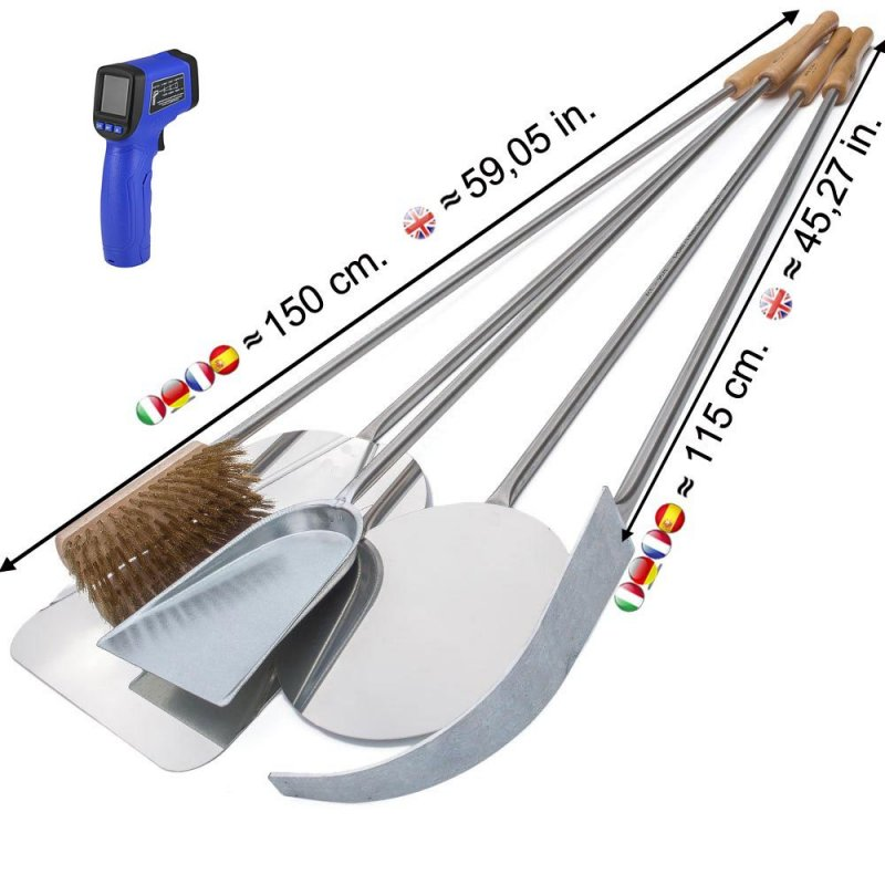 Pizzaschaufel-Set 150 cm