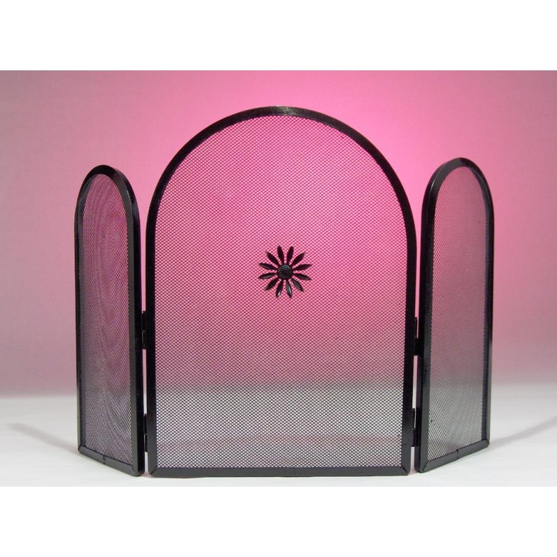 Dome-shaped fire screen