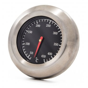 Stainless steel 500 °C thermometer for oven fixing with screw