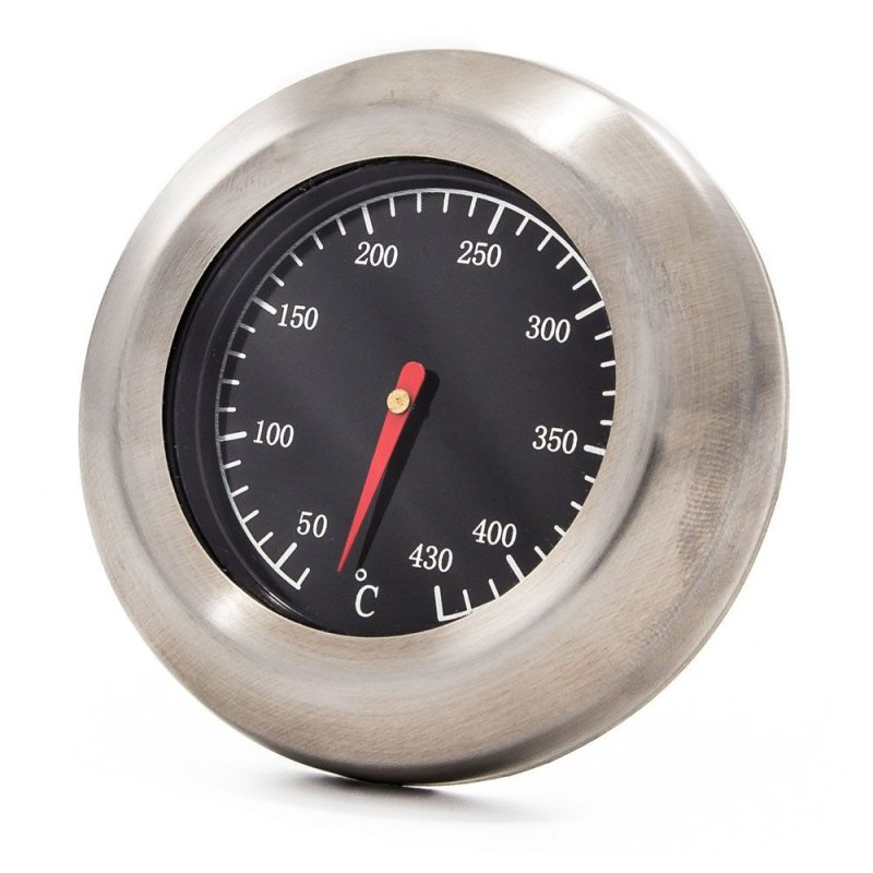 Stainless steel 50-430 °C thermometer for oven fixing with screw